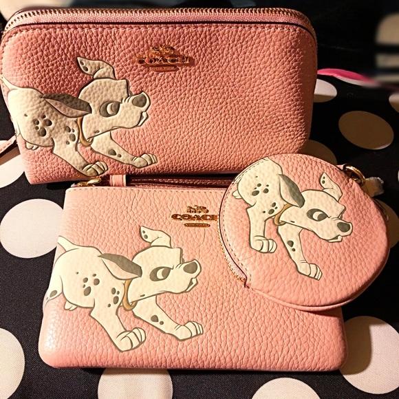 Coach Handbags - Coach Disney X Dalmatian Trio of Cases. New!